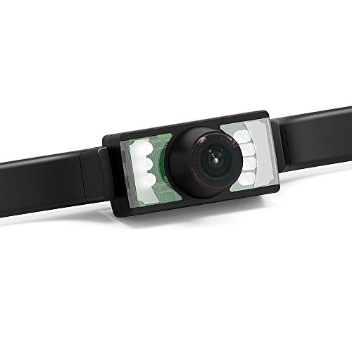 Nummernschild Schritt (Rückfahrkamera GOGO Roadless 170 Grad Weitsichtwinkel Auto Heckkamera mit 7-Nachtsicht -LED)