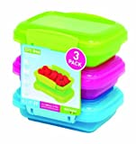 Sistema Klip It 3 by 6.7-Ounce Containers, 3-Pack, Blue/Pink/Green by Sistema