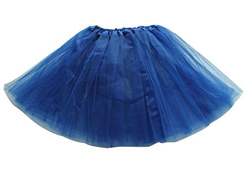(Tütü Damen Tüllrock Mädchen Ballet Tutu Rock Kinder Petticoat Unterrock Ballett Kostüm Tüll Röcke Festliche Tütüs Erwachsene Pettiskirt Ballerina Petticoat Für Dirndl Saphir Erwachsene)