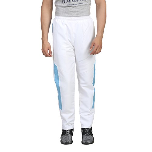 Trendy Trotters Men's Sports Track Pants-TTJ1LOWER_WHITE_BLUE_2XL