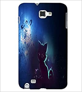 PrintDhaba Cat D-4914 Back Case Cover for SAMSUNG GALAXY NOTE 1 (Multi-Coloured)