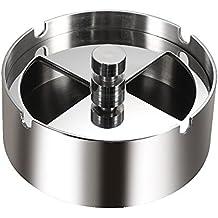 Anself acciaio inossidabile di alta qualità rotonda girevole posacenere con la filatura vassoio antivento portacenere per albergo