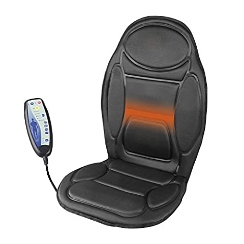 Health Plus Heated Body, Back, Thigh, Massage Seat Warmer – for Car, Home, Office