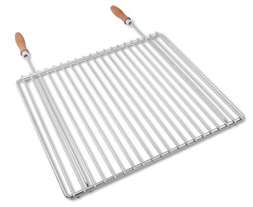 Edelstahl Grillrost mit verstellbarer Breite 45-55X37cm aus Europäischem Edelstahl, Verstellbarer Grillrost, Grillrost Ausziehbar