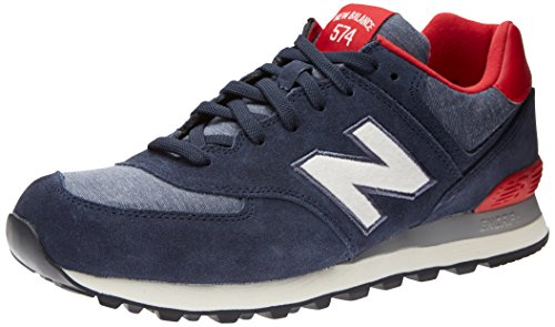 New Balance Ml574 D, Baskets mode homme Bleu (navy Blue/red/white)