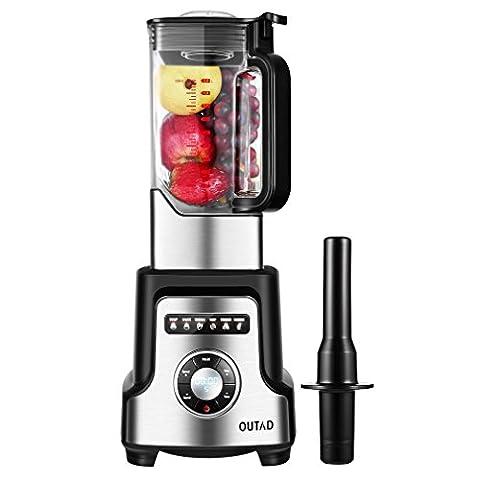 Professionelles Obst/Gemüse Standmixer, OUTAD Smoothie-Mixer Mix mit 32000-50000 RPM, 2000W,