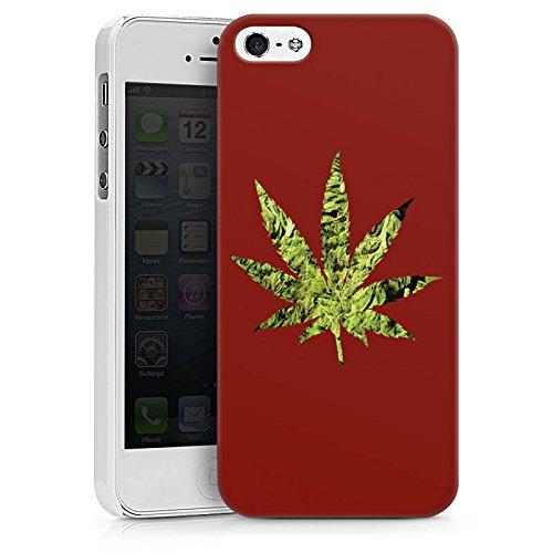 Apple iPhone X Silikon Hülle Case Schutzhülle Hanfblatt THC Marihuana Hard Case weiß