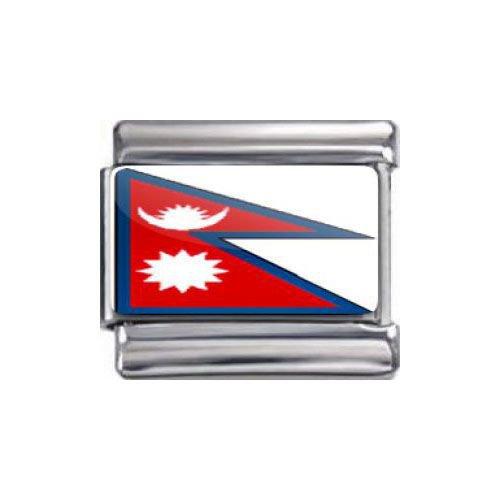 Italian Charms Modul Nationalflagge Nepal ...by Kult-Schmuck