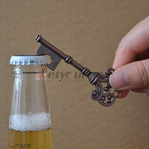 Openers - Key Shape Bottle Opener Ring Keyfob Keyring Chain Keychain Metal Beer Bar - Tools Tool Chain Beer Glass Cherry Keychain Phone Keyring Knife Gold Adapter Beer Wine Bull Terrier S -