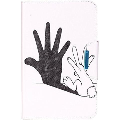 Cuitan Funda Carcasa de Cuero PU para Samsung Galaxy Tab E (9.6 inch) SM-T560, Patrón del Dibujo Tirón Protectora Cubierta Case Cover con Cierre Magnético y Ranuras para Tarjetas - Palma