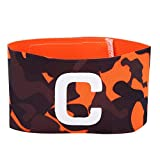 Dwawoo Capitan Armband, Nylon Soccer Captain Arm Band Bracciale Sportivo da Squadra per Calcio Hockey Tennis Basketball Volley(Arancione)