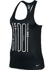Nike Leg Jdi Racer Tank, Camiseta Para Mujer, Multicolor (Black / White), M