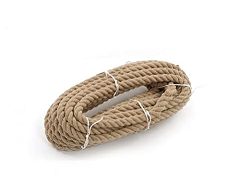 Natural Jute Rope 16mm / 10m Twisted Garden Cord Boating Decking String