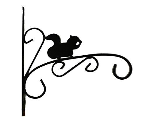HAAC Pflanzenhänger Wandhaken Blumenampel Halterung Größe 29 cm x 29 cm Farbe schwarz
