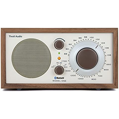 Tivoli Audio M1BT-1385-EU - Radio portátil (AM, FM, 3.5 mm), marrón y plateado (importado)