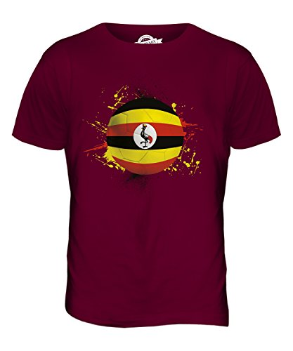 CandyMix Uganda Fußball Herren T Shirt Burgunderrot