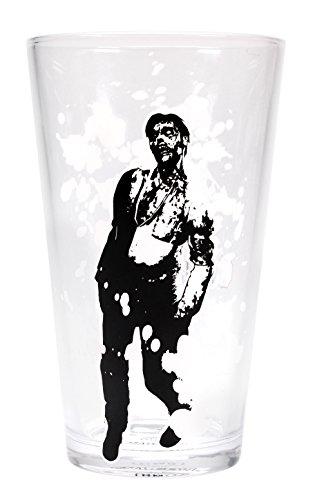 Zombie Glas (Resident Evil Thermoeffekt Glas Zombie - transparent, Druck in Multicolor, aus Glas, Fassungsvermögen ca. 450 ml.)