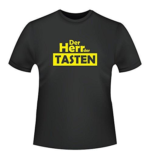 Der Herr der Tasten, Herren T-Shirt - Fairtrade - ID104165 Schwarz
