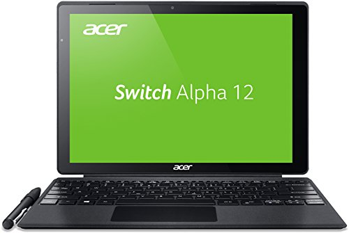 Acer Switch Alpha 12 Pro SA5-271P-56W8 30,5 cm (12 Zoll QHD Touch IPS) Convertible Notebook (Intel Core i5-6200U, 8GB RAM, 256GB SSD, Windows 10 Pro) silber