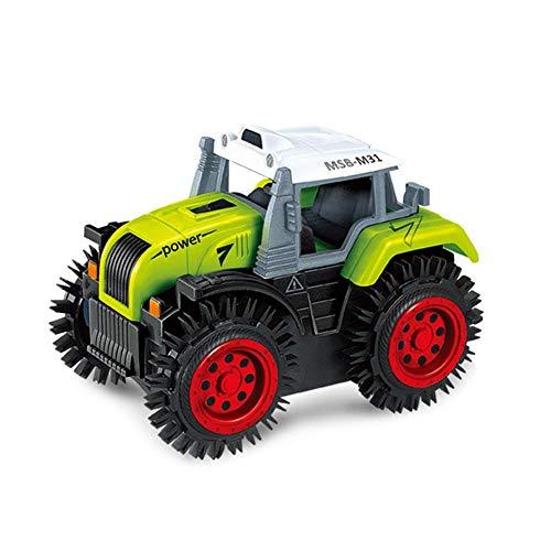 Umiwe LKW Spielzeug Fahrzeug für 3-6 Jahre Alten Jungen, Konstruktion Autos mit Anti-Rutsch-Rädern, Automatischer Flip & Schlagfest, Bump and Go Action Spielzeug Geschenk