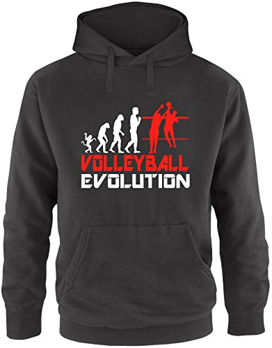 EZYshirt® Volleyball Evolution Herren Hoodie