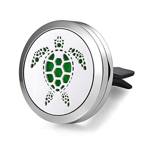 JOYMIAO Diffusore di Tartaruga d'Acqua Dolce in Acciaio Inox per diffusori d'olio Essenziale di aromaterapia a Clip di fragranza dell'automob