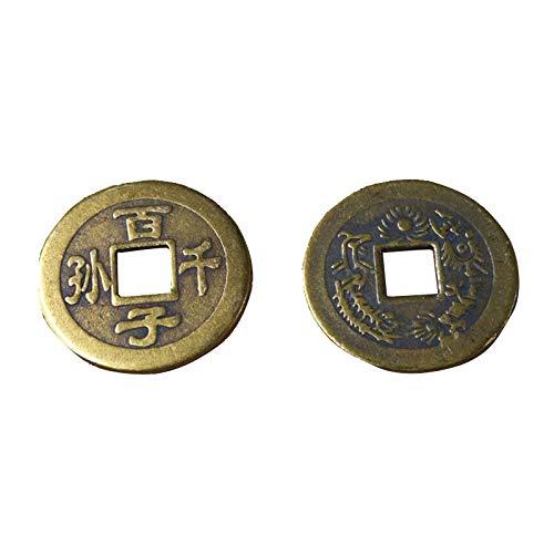 YWJHY 2.5Cm Kinder Und Enkelkinder, Kupfermünzen, Feng Shui, Antike Münzen, Gedenkmünzen, Antike...