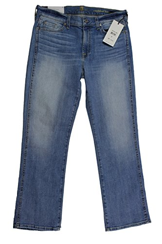 Coronado Springs (7 For All Mankind Women's Cropped Boot Jean in Stretch Coronado Springs, 30)