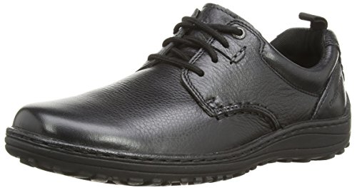 Hush Puppies - Scarpe stringate uomo - nero (Black Leather), 45 (10 UK)