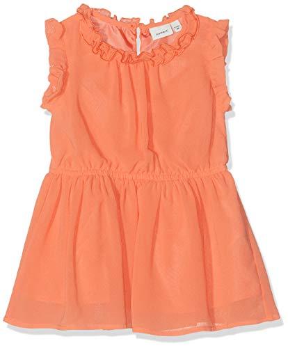 NAME IT Baby-Mädchen NMFVILUSI CAPSL DRESS H Kleid, Orange (Emberglow), (Herstellergröße: 98)