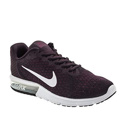 Nike Herren Air Max aufeinanderfolgend 2 II Portwein Weiß Bordeaux Laufschuhe 852461 601 - Portwein, UK 10 EUR 45 US 11