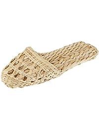 Homyl Uomo Pantofole Sandali di Paglia Ciabatte da Spiaggia aae22d087b5