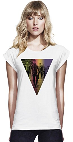 One Republic Womens Continental Rolled Sleeve T-Shirt Small