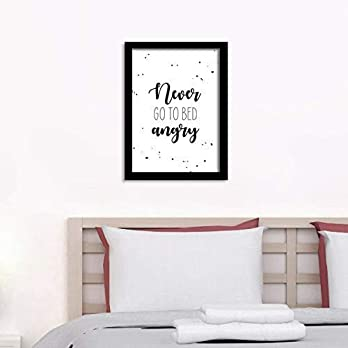 Poster Schlafzimmer – Never go to Bed angry
