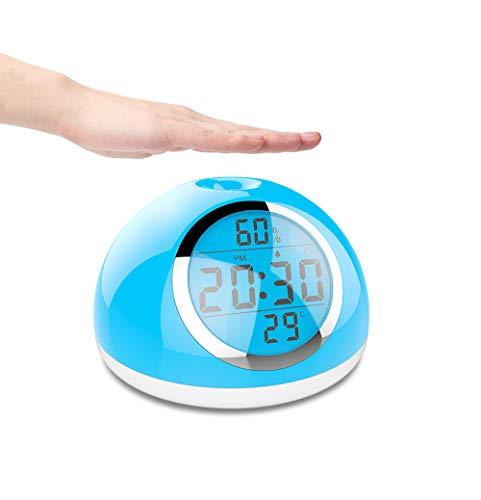 Aingol Réveil de lumière d'éveil, Geste Sensible réveil-up Lampe pour Les Chambres à Coucher, Chevet et Enfants avec la température et l'humidité de contrôle Tactile pour Le Sommeil Lourd