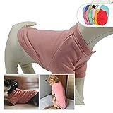 lovelonglong 2019 Hundepullover Herbst Winter kalte Wetter Hund T-Shirts für kleine mittelgroße große Hunde 100% Baumwolle