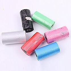 20pcs / Roll Le sac en plastique d'ordure d'animal familier nettoient la couleur aléatoire