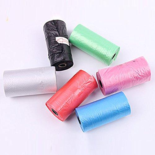 Lanlan 20Stück/Rolle Kotbeutel für Hunde Abfall Poo Pick Up reinigen Tasche auch für huosehold Garbage Müllsack zufällige Farbe