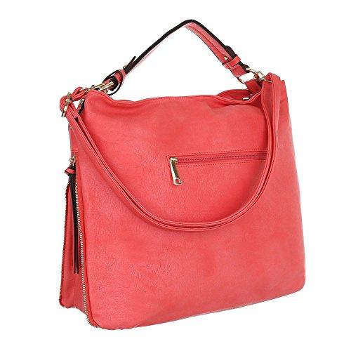 Damen Shopper Damen Schultertasche Tragetasche Handtasche Elfenbein Schwarz Beige Grau Rot Weiß Gelb Rot