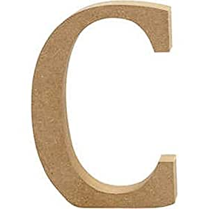 Large 130mm wooden mdf letter shape to decorate c wood for Large wooden letters amazon