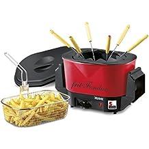 Nova Retro Frit-Fondue Red - Freidora y juego de fondue en 1
