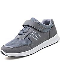 GLSHI Scarpe da uomo Scarpe da passeggio di mezza età Scarpe da passeggio  comode Scarpe da ginnastica per esercizi all aperto Scarpe da… e485c8d1599