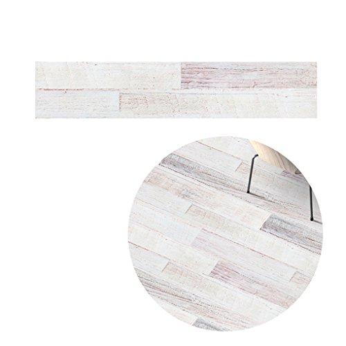(Topker 5M Selbstklebendes Holz Korn Boden Kontakt Papier Abdeckung PVC abnehmbare dekorative Film Tapete Aufkleber weiß)