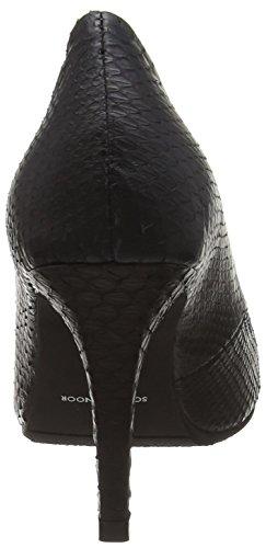 Sofie Schnoor Snakeskin Pump, Chaussures à talons - Avant du pieds couvert femme Noir - Noir