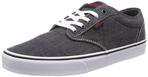 Vans atwood canvas sneaker uomo, nero ((distressed) black/white iq4) 40 eu