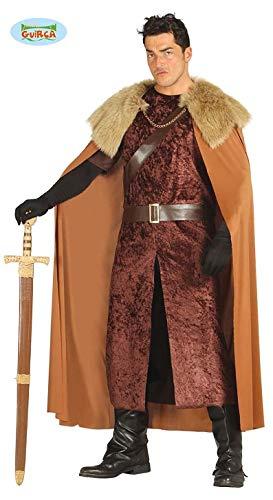 Barbar Hunne Kostüm für Herren Karneval Fasching Party Barbaren Herrenkostüm Mittelalter Braun Gr. M-XL, Größe:XL