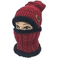 IG Herbst Und Winter Gestrickte Wollmütze Männer Und Frauen Plus SAMT Verdickung Kopf Hut Schal Set Warme Ohrenschützer Zweiteilig