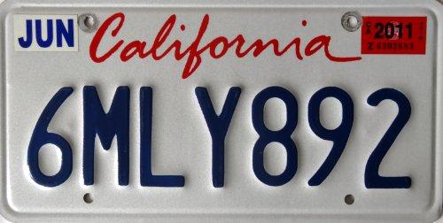 USA Nummernschild CALIFORNIA ~ US Kennzeichen Kalifornien ~ Metallschild