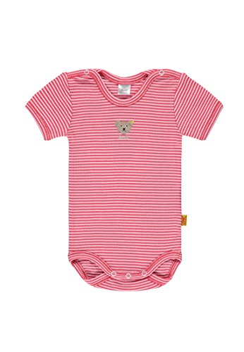 Steiff Baby-Mädchen Body 1/4 Arm, Rot (Paradise Pink 2024), 86