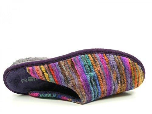 good texture best shoes official shop Rohde 2265, Chaussons Mules Femme Violet Vue Prise ...